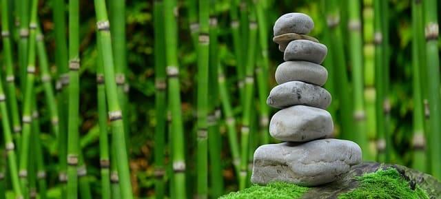 Die Geduld in Form von Steinen